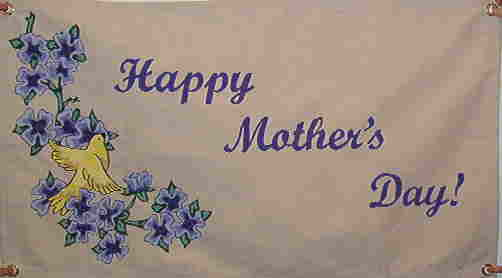 Canvas Mother's Day banner