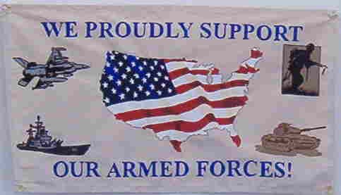 Canvas Armed Forces support banner