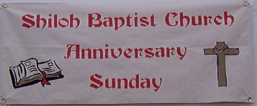canvas anniversary Sunday banner