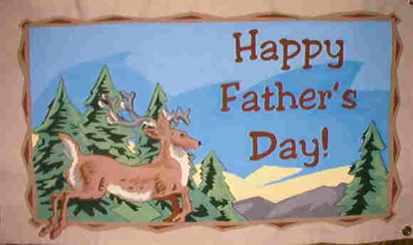 Canvas Father's Day banner